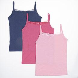 Kız Çocuk Üçlü Atlet Set Lacivert (1-12 yaş)