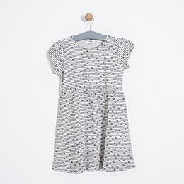Kız Çocuk Elbise Bej Melanj (3-7 yaş)