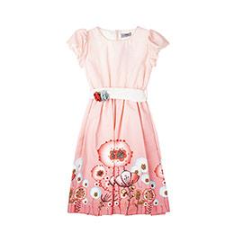 Kız Çocuk Elbise Somon (1-10 yaş)