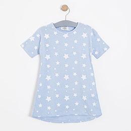 Kız Çocuk Gecelik Mavi (3-12 yaş)