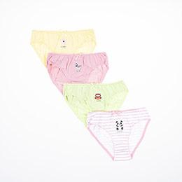 Kız Çocuk Dörtlü Külot Set Sarı (1-12 yaş)