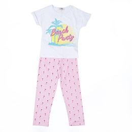 Kız Çocuk Pijama Takımı Beyaz (3-12 yaş)