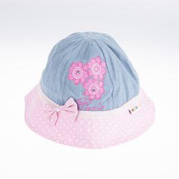 Kız Çocuk Fötr Şapka Mavi (5-8 yaş)