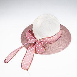 Kız Çocuk Hasır Şapka Gül (3-8 yaş)
