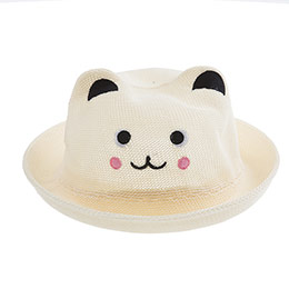 Kız Çocuk Hasır Şapka Krem (3-8 yaş)