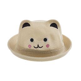 Kız Çocuk Hasır Şapka Bej (3-8 yaş)