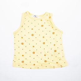 Kız Bebek Kolsuz Tişört Sarı (0-2 yaş)