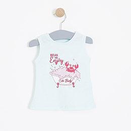 Kız Bebek Kolsuz Tişört Mint (0-2 yaş)