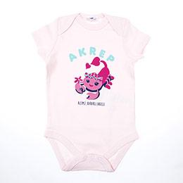 Kız Bebek Kısa Kol Badi Pembe (0-2 yaş)