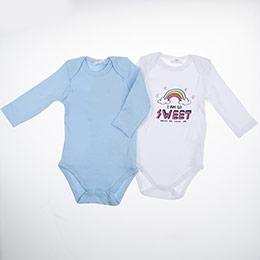 Kız Bebek Badi Set Açık Mavi (0-2 yaş)