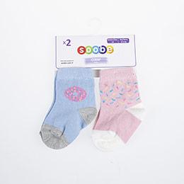 Kız Bebek İkili Soket Çorap Lila (14-22 numara)