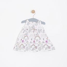 Kız Bebek Elbise Takım Bej (0-2 yaş)