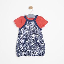 Kız Bebek Elbise Lacivert (0-2 yaş)