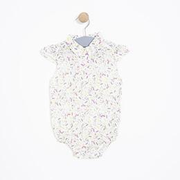 Kız Bebek Gömlek Bej Melanj (0-2 yaş)