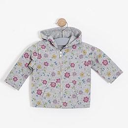 Kız Bebek Sweatshirt Gri Melanj (0-2 yaş)