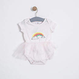 Kız Bebek Etekli Tulum Pembe (0-2 yaş)