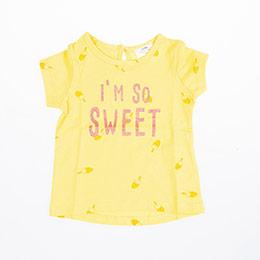 Kız Bebek Tişört Sarı (0-2 yaş)
