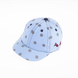 Erkek Bebek Kep Şapka Mavi (0-18 ay)