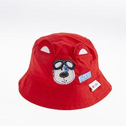 Erkek Bebek Fötr Şapka Kırmızı (0-18 ay)