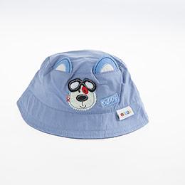 Erkek Bebek Fötr Şapka Saks (0-18 ay)