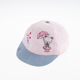 Kız Bebek Kep Şapka Açık Pembe (0-18 ay)