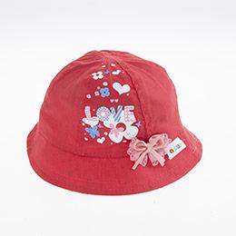 Kız Bebek Fötr Şapka Fuşya (0-18 ay)