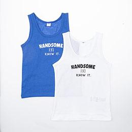 Erkek Çocuk İkili Atlet Set Beyaz (7-12 yaş)