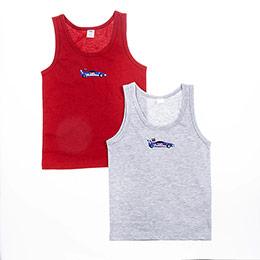 Erkek Çocuk İkili Atlet Set Karışık (1-6 yaş)