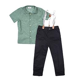 Erkek Çocuk Gömlek Pantolon Takım Siyah (3-7 yaş)