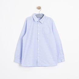 Erkek Çocuk Uzun Kol Gömlek Mavi (3-12 yaş)