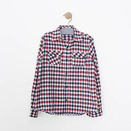 Erkek Çocuk Uzun Kol Gömlek Kırmızı (3-12 yaş)