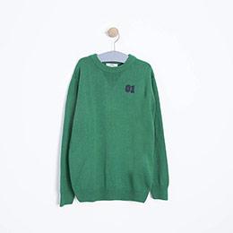Erkek Çocuk Kazak Yeşil (3-12 Yaş)