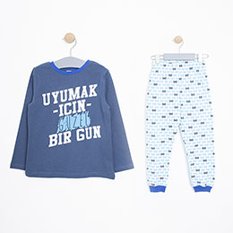 Erkek Çocuk Pijama Takımı Lacivert (3-12 Yaş)
