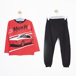 Erkek Çocuk Pijama Takımı Kırmızı (3-12 Yaş)