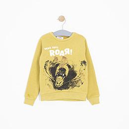 Erkek Çocuk Sweatshirt Sarı (3-12 yaş)
