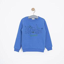 Erkek Çocuk Sweatshirt Mavi (3-12 yaş)