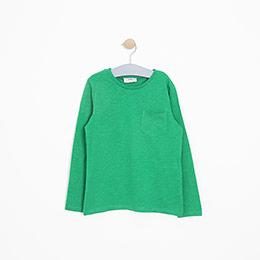 Erkek Çocuk Uzun Kol Tişört Yeşil (3-12 yaş)