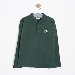 Erkek Çocuk Uzun Kol Tişört Koyu Yeşil (3-12 yaş)