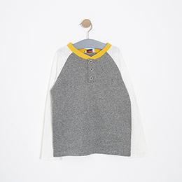 Erkek Çocuk Uzun Kol Tişört Gri Melanj (3-12 Yaş)