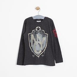 Erkek Çocuk Uzun Kol Tişört Siyah (8-12 yaş)