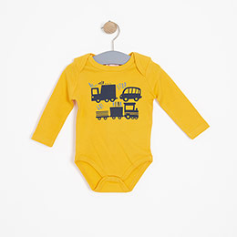 Erkek Bebek Uzun Kol Badi Sarı (3-15 ay)
