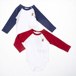 Erkek Bebek Uzun Kol Badi Set Beyaz (3-15 ay)
