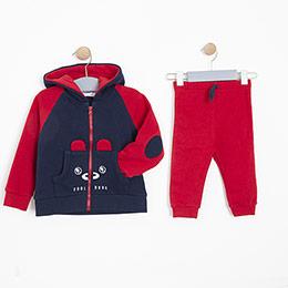 Erkek Bebek Eşofman Takımı Kırmızı (12-24 ay)