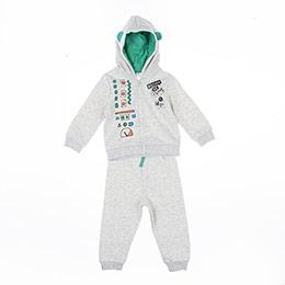 Erkek Bebek Eşofman Takımı Gri Melanj (12-24 ay)