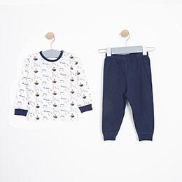 Erkek Bebek Pijama Takımı Mavi (9-24 ay)