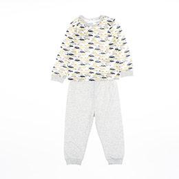 Erkek Bebek Pijama Takımı Krem (9-24 ay)