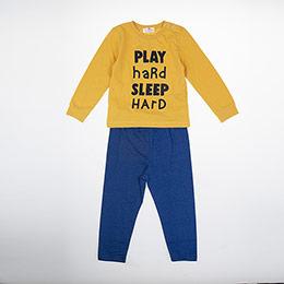 Erkek Bebek Pijama Takımı Hardal (9-24 ay)