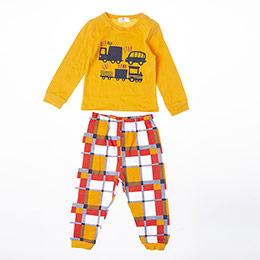Erkek Bebek Pijama Takımı Turuncu (9-24 ay)