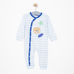 Erkek Bebek Tulum Mavi (3-24 ay)