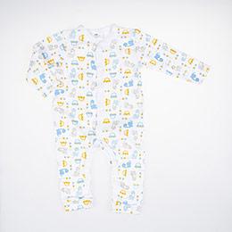 Erkek Bebek Tulum Beyaz (3-24 ay)
